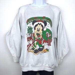 Vintage Mickey Mouse Christmas Sweatshirt Disney